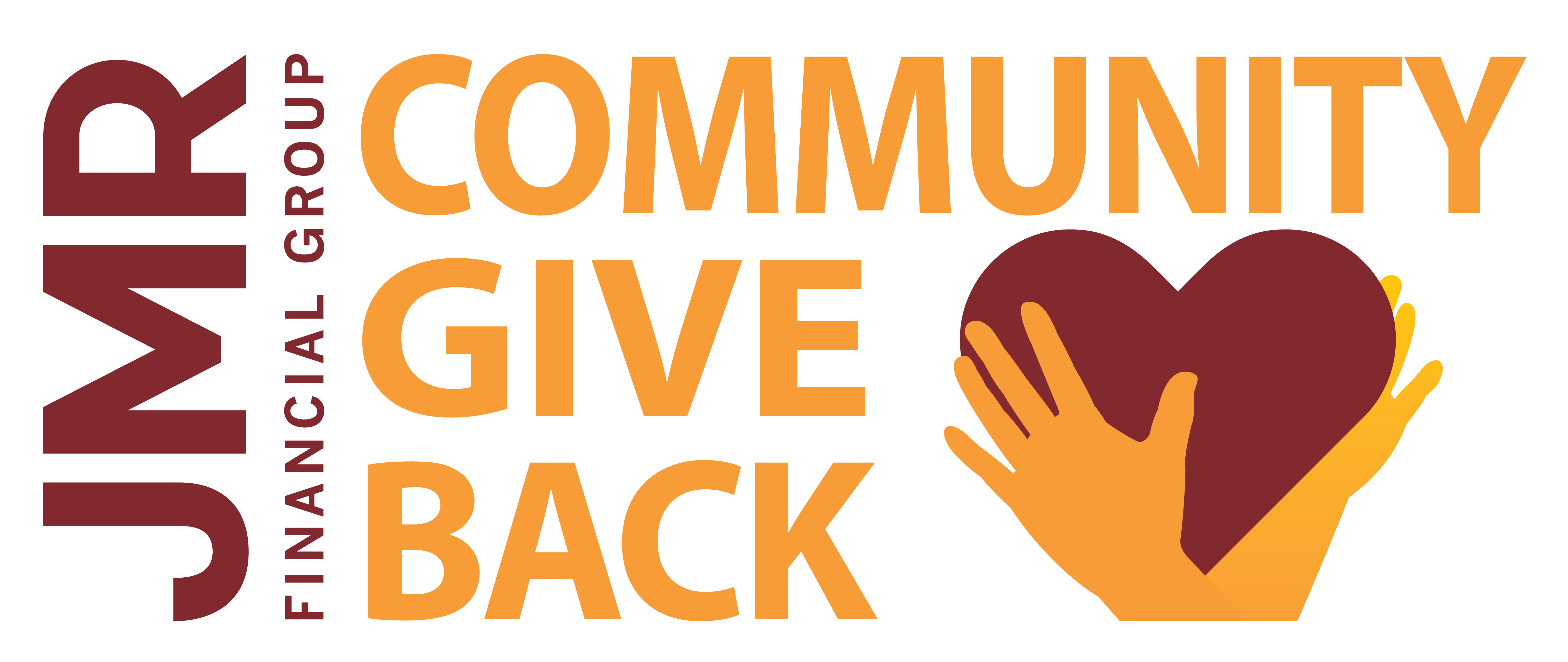 jmr financial group give back to community program logo